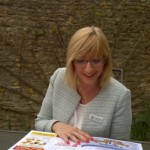 Sandy enjoying a read of The Business Exchange Swindon & Wiltshire