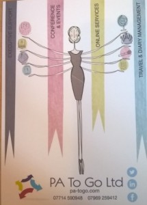 PA To Go Ltd New marketing material - front page