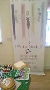 The new PA To Go Banner - by Kennet Signs
