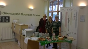 Kath, Sandy and Jane checking out the lovely cakes!