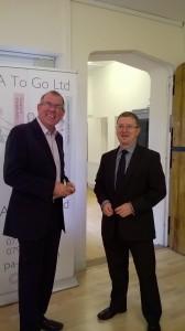 Ian Silk and Mark Davies networking